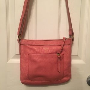 Coral pink fossil purse